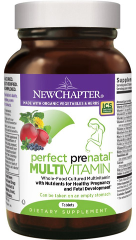 4. New Chapter Perfect Prenatal Vitamins Fermented