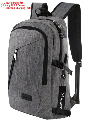 10. Mancro Business Water Resistant Polyester Laptop Backpack