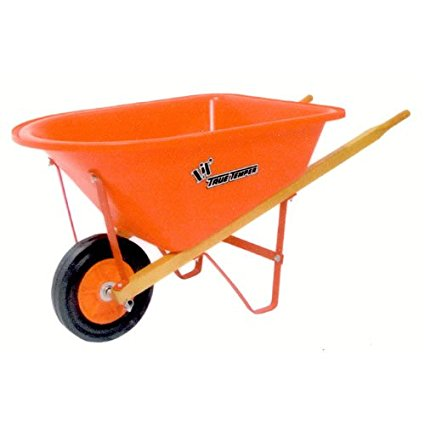 2. True Temper KPWB10 Real Tools for Kids Lil Wheelbarrow with Poly Tray