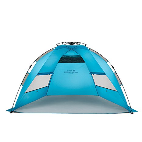 2. Pacific Breeze Easy Up Beach Tent