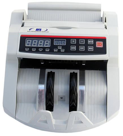 08. HFS Bill Money Counter Worldwide Currency Cash Counting Machine UV & MG Counterfeit
