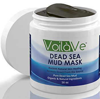 01. VoilaVe Dead Sea Mud Mask, Huge 16 oz. Jar Imported from Israel, Facial Mask