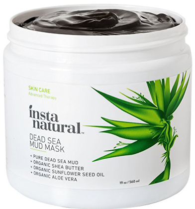 07. InstaNatural Dead Sea Mud Mask 19 oz- Reduce Facial Pores Organic for Oily & Acne Prone Skin