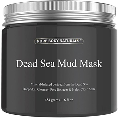 08. Pure Body Naturals Beauty Dead Sea Mud Mask for Facial Treatment Large Size