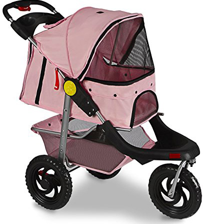 Paws & Pals 3-Wheels Deluxe Foldable Stroller for Pets