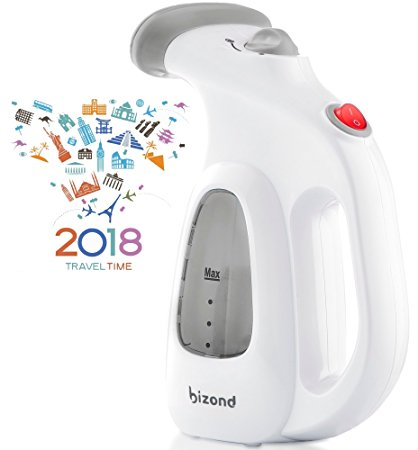 Portable Garment Steamer for Clothes, Handheld - Home and Travel Accessories - Compact Mini Steamer Clothing, Fabric, Draperies, Shirt - Safe and Little Handy, Anti-Spill Steamer Iron - BIZOND