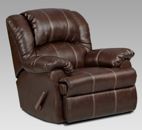 Roundhill Furniture Brandan Bonded Leather Dual Rocker Recliner