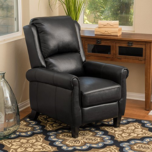 Great Deal Furniture 296597 Lloyd Black Leather Recliner