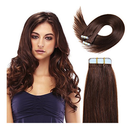 20 Inch Tape In Hair Extensions 100% Remy Straight Tape Human Hair Extensions 20pcs 50g/pack