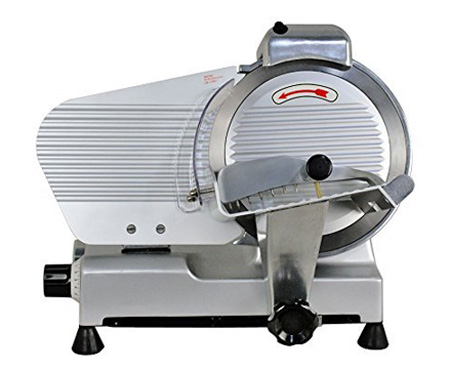 Smartxchoices New Semi-Auto Meat Slicer 10-in Blade Stainless Steel Slice