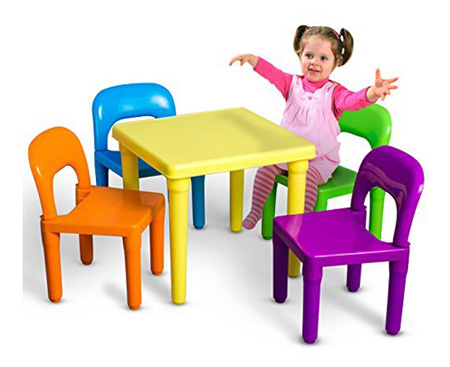 OxGord PTLC-01 Kids Plastic Table and Chair