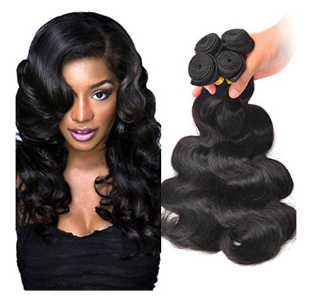 Brazilian Wavy Hair Bundles Unprocessed Virgin Human Hair Extensions Body Wave Hair 12