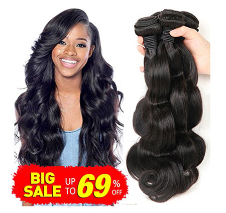 Bestsojoy Brazilian Virgin Hair Body Wave 3 Bundles Remy Human Hair