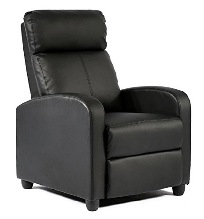 BestMassage Modern Leather Chaise Couch Single Recliner