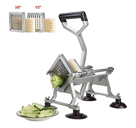 CO-Z Commercial Grade Aluminum Alloy Heavy Duty French Fry Cutter & Slicer with Suction Feet Complete Set