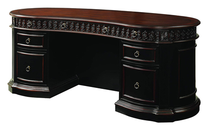 Rowan Oval Double Executive Office Desk