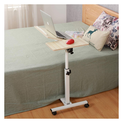 Tilting Overbed Table with Wheels