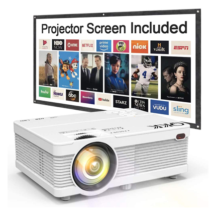 QKK Mini Projector 4500Lumens Portable LCD Projector