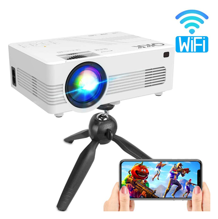 QKK Upgraded 3600Lumens WiFi Projector